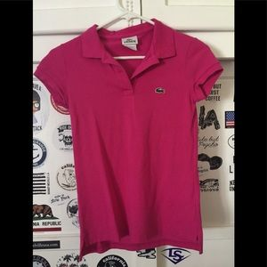 Lacoste shirt w/ 2 buttons on top